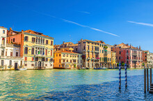Grand Canal Waterway With Row ...