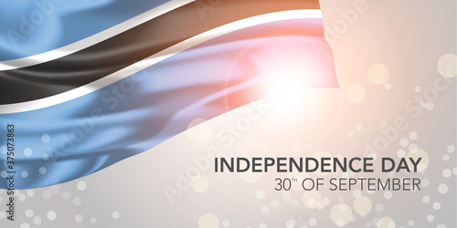 Fotografie, Tablou Botswana happy independence day vector banner, greeting card