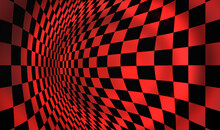 Red Geometric Background With ...