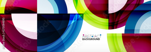 Round shapes, triangles and circles. Modern abstract background Fototapeta