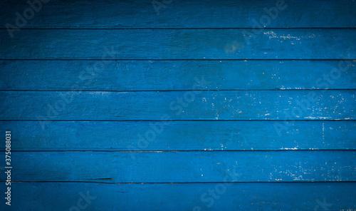 Dark blue wood floor Suitable for background images, copy areas. Fototapet