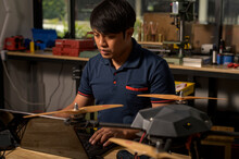 Engineer Developing On Drone I...