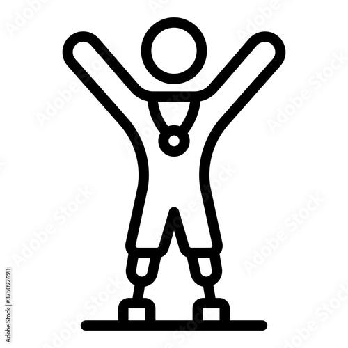 Photo Amputated legs sportsmen icon