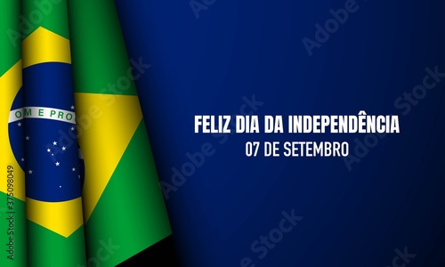 Fotografie, Obraz Brazil Independence Day Background.