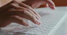 Man Type On Computer Keyboard
