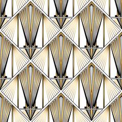 Fototapeta Art Deco Art Deco Pattern. Vector gold black white background