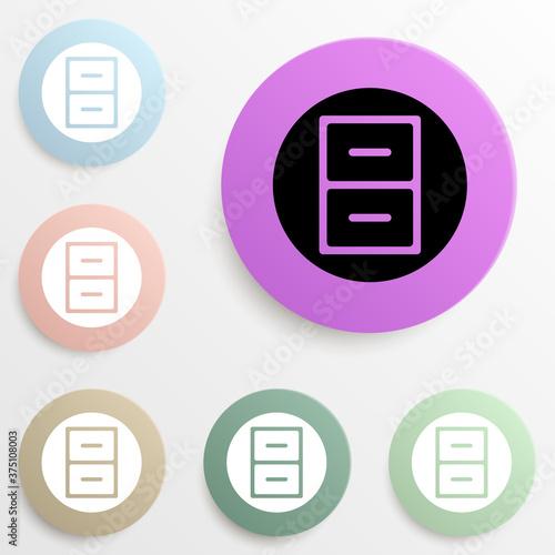 Fotografía regiment in a circle badge color set