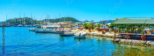Panorama of Ucagiz coast, Kekova, Turkey