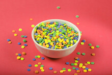 Jelly Beans Are A Small Candy On Bright Background