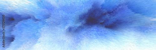 Digital Illustration. Color blue splash. Abstract horizontal background..