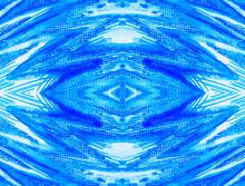 Indigo Stripe. Turquoise Patte...