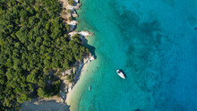 Aerial Drone Photo Of Turquois...