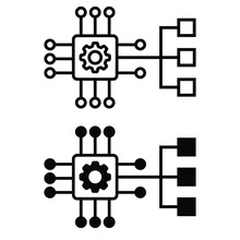 Clustering Icon Vector Set. Artificial Illustration Sign Collection. Communication Symbol.
