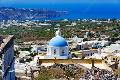 Fototapeta santorini island greece obraz