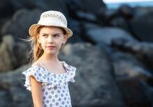 A Pretty Little Girl Enjoys Th...