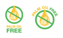 Palm Oil Free Sign - Crossed O...