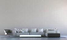 Modern Cozy Mock Up Interior D...
