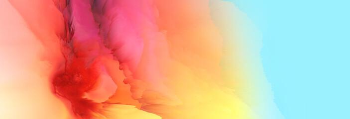 Digital Illustration. Color rainbow splash. Abstract horizontal background..