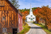 Rural Vermont, USA At Waits Ri...