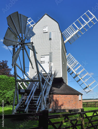 Photo Restored Windmill near Cromer, Hertfordshire