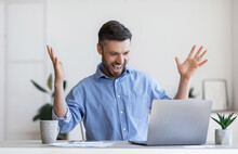 Happy Male Entrepreneur Emotio...