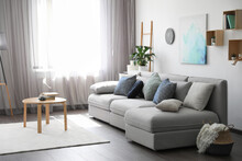 Elegant Living Room With Comfo...