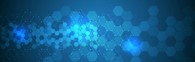 Fototapeta Golf futuristic hexagonal technology background