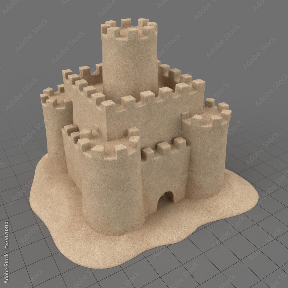 Fototapeta Sand castle 2