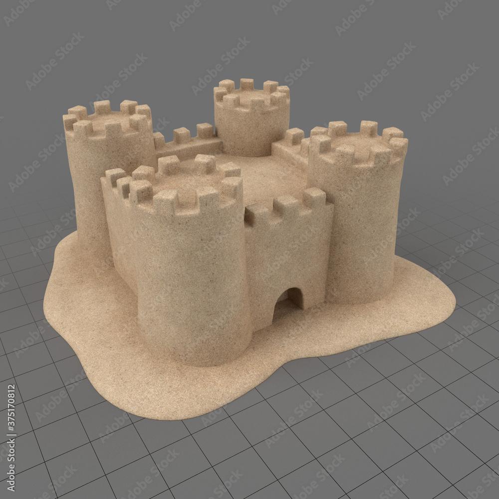 Fototapeta Sand castle 1