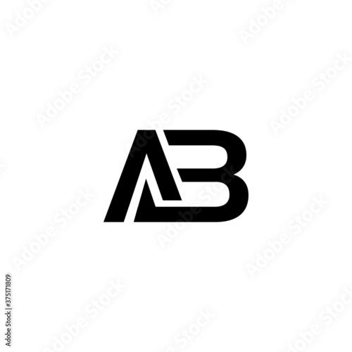 latter AB  icon logo design. Tableau sur Toile