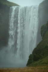 Fototapeta Do sypialni Skogafoss waterfall in South Iceland. Beautiful nature landscape