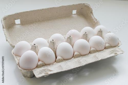 huevos empacadas, alimentos frescos Wallpaper Mural