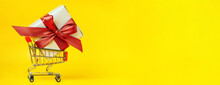 Holiday Banner With Gift Box I...