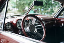 Interior Of A Beautiful, Restored Classic Car