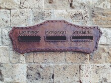 An Old Historic Postal Mail Box In Tuscany, Italy