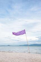 Purple Flag On The Beach
