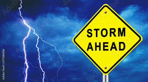 Photo Warning of an approaching storm