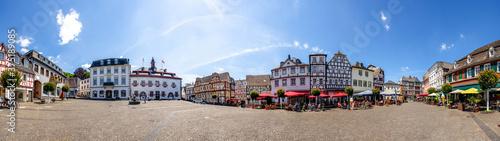 Obraz na plátně Panorama, Marktplatz, Linz am Rhein, Deutschland