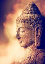 Stone Buddha In Meditation