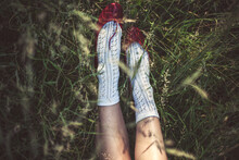 Little Red Shoes In The Grass