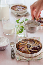 A Clafoutis Of Plum, Milk And ...