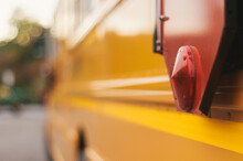 Close Up Of Yellow School Bus