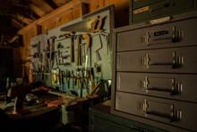 Old Workshop Shed With Workben...