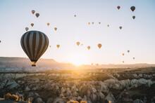 Air Balloons Racing Over Rocky...