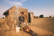 Portrait Of An African Hambukushu Woman