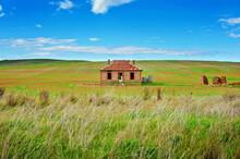 Cottage Ruin In Rural Australia