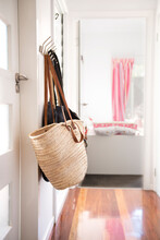 White Tote In Hallway