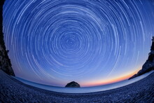 Star Trails Over The Northern ...