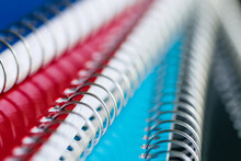 Macro Of Colorful Notebooks