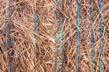 Close-up Of A Bale Of Hay